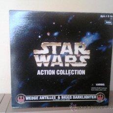 Figuras y Muñecos Star Wars: STAR WARS CAJA DOBLE WEDGE & BIGGS. ESCALA 1:6 30 CM. Lote 30365348