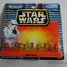 Figuras y Muñecos Star Wars: STAR WARS MICROMACHINES BLISTER REBEL PILOTS. Lote 30725455
