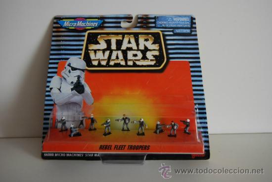 STAR WARS MICROMACHINES BLISTER REBEL FLEET TROPERS (Juguetes - Figuras de Acción - Star Wars)
