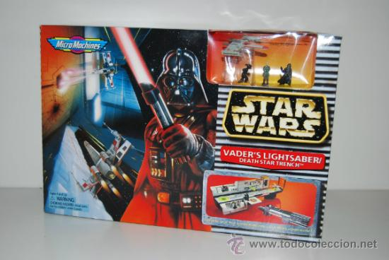 STAR WARS MICROMACHINES VADER'S LIGHTSABER (Juguetes - Figuras de Acción - Star Wars)