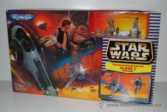 STAR WARS MICROMACHINES SLAVE I TATOOINE (Juguetes - Figuras de Acción - Star Wars)