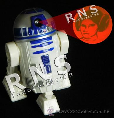 R2D2 LUZ PROYECTOR MUÑECO LA GUERRA DE LAS GALAXIAS FIGURA STAR WARS ROBOT JUGUETE - C. FICCIÓN CINE (Juguetes - Figuras de Acción - Star Wars)