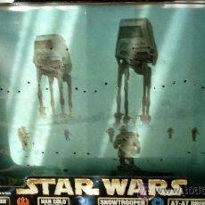 Figuras y Muñecos Star Wars: STAR WARS. CAJA VACIA MUY GRANDE -53X34 CM.- CON GRAN FOTOGRAFÍA DE FONDO DE LA BATALLA HOTH. USADA.. Lote 33375111