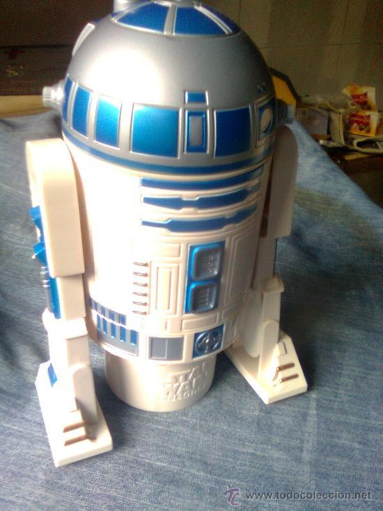 GRAN ROBOT STARS WARS R2D2 TRANSFORMER EN KIT DE DESAYUNO COLACAO-KELLOGS. R2 D2 30 CMS (Juguetes - Figuras de Acción - Star Wars)
