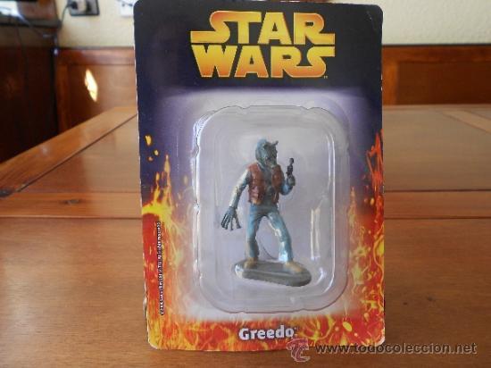 STAR WARS: GREEDO (LUCASFILM & TM LTD 2006) FIGURA METAL SIN ESTRENAR. ESCALA 1:32 (Juguetes - Figuras de Acción - Star Wars)