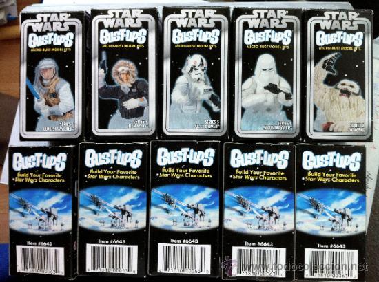 LOTE 5 CAJAS VACIAS DE LAS SERIE 5 DE LA COLECCIÓN DE MINI-BUSTOS DE GENTLE GIANT. EN . (Juguetes - Figuras de Acción - Star Wars)