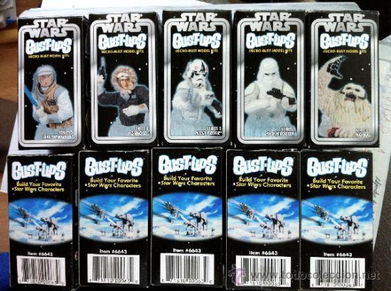 Figuras y Muñecos Star Wars: Lote 5 cajas VACIAS de las serie 5 de la colección de mini-bustos de Gentle Giant. En . - Foto 3 - 37927131