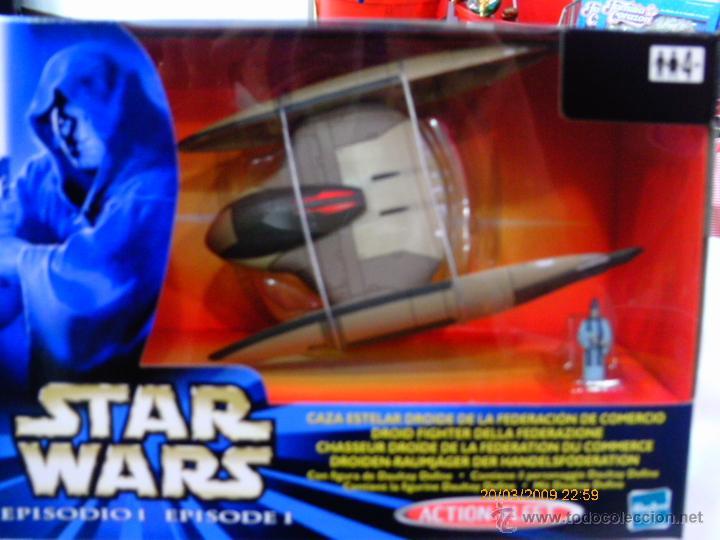STAR WARS.EPISODIO I.FLOTA DE COMBATE.CAZA ESTELAR DROIDE FEDERACIÓN DE COMERCIO.AÑO 1999.NUEVA/CAJA (Juguetes - Figuras de Acción - Star Wars)