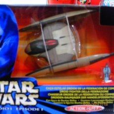 Figuras y Muñecos Star Wars: STAR WARS.EPISODIO I.FLOTA DE COMBATE.CAZA ESTELAR DROIDE FEDERACIÓN DE COMERCIO.AÑO 1999.NUEVA/CAJA. Lote 163085081