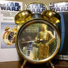 Figuras y Muñecos Star Wars: STAR WARS - RELOJ - DESPERTADOR - DROIDES - C3PO R2D2 - GUERRA GALAXIAS - METAL - LUCASFILM - NUEVO. Lote 40463132