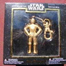 Figuras y Muñecos Star Wars: LLAVERO CON FIGURA DE 3CPO DE STAR WARS EN METAL DORADO - PLACO TOYS. Lote 41183155