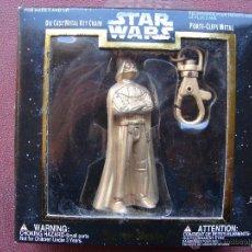 Figuras y Muñecos Star Wars: LLAVERO CON FIGURA DE DARTH VADER DE STAR WARS EN METAL DORADO - PLACO TOYS. Lote 41183216
