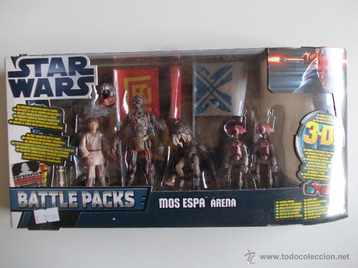 STAR WARS--MOS ESPA ARENA-BATTLE PACK-NUEVO SIN ABRIR-HASBRO-INCLUYE JUEGO DE BATALLA +GAFAS 3D (Juguetes - Figuras de Acción - Star Wars)