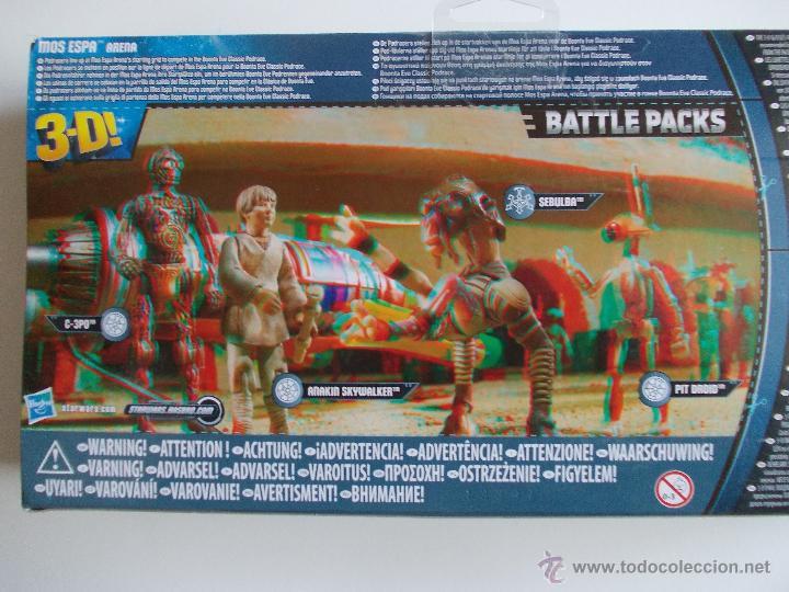 Figuras y Muñecos Star Wars: STAR WARS--MOS ESPA ARENA-BATTLE PACK-NUEVO SIN ABRIR-HASBRO-INCLUYE JUEGO DE BATALLA +GAFAS 3D - Foto 2 - 41852707