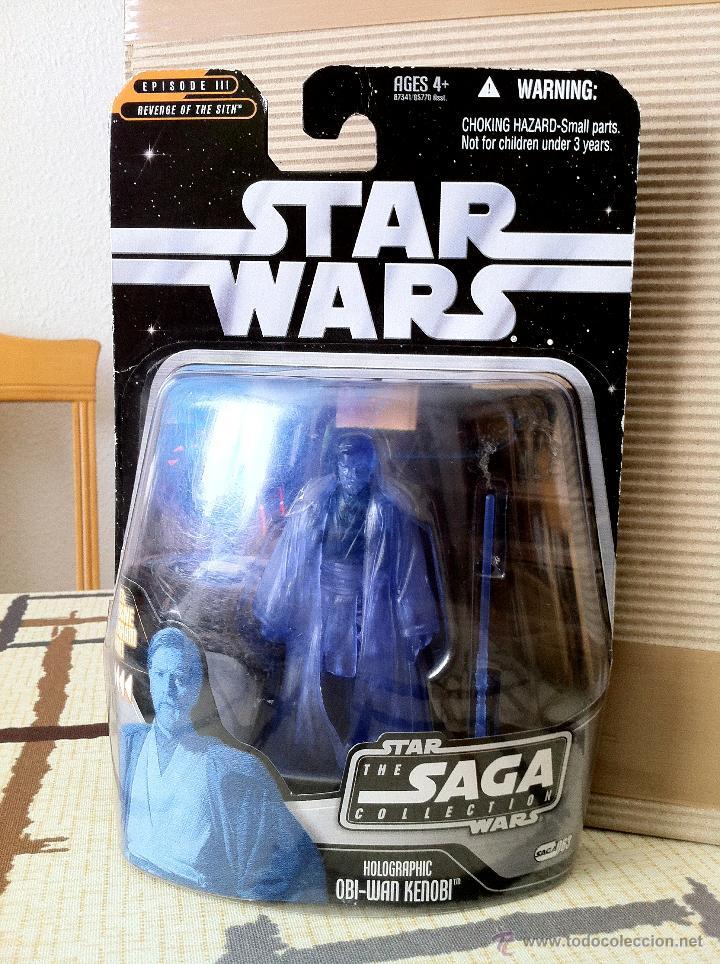 Figuras y Muñecos Star Wars: HOLOGRAPHIC OBI-WAN KENOBI. En blister USA. POSIBILIDAD DE AGRUPAR LOTES CON DESCUENTOS. - Foto 4 - 26979148