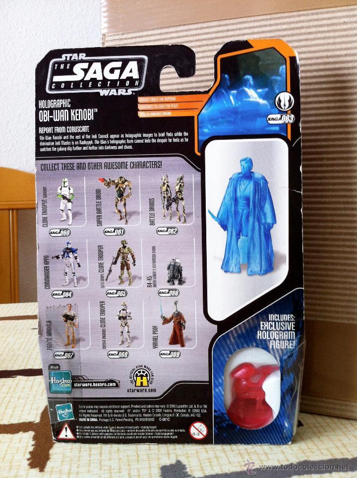 Figuras y Muñecos Star Wars: HOLOGRAPHIC OBI-WAN KENOBI. En blister USA. POSIBILIDAD DE AGRUPAR LOTES CON DESCUENTOS. - Foto 5 - 26979148