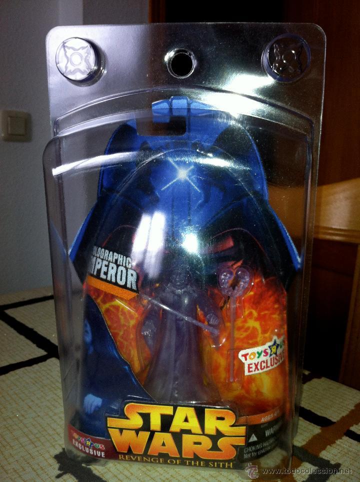 Figuras y Muñecos Star Wars: Exclusiva USA EPISODIO III. HOLOGRAPHIC EMPEROR Toys R us Exclusive. Con envase especial. - Foto 4 - 26979138