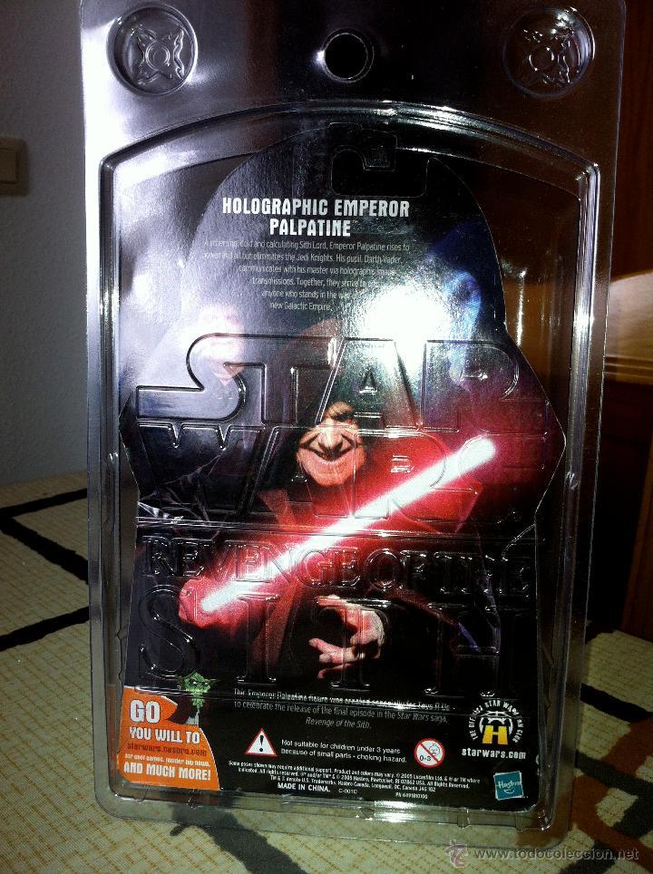 Figuras y Muñecos Star Wars: Exclusiva USA EPISODIO III. HOLOGRAPHIC EMPEROR Toys R us Exclusive. Con envase especial. - Foto 6 - 26979138