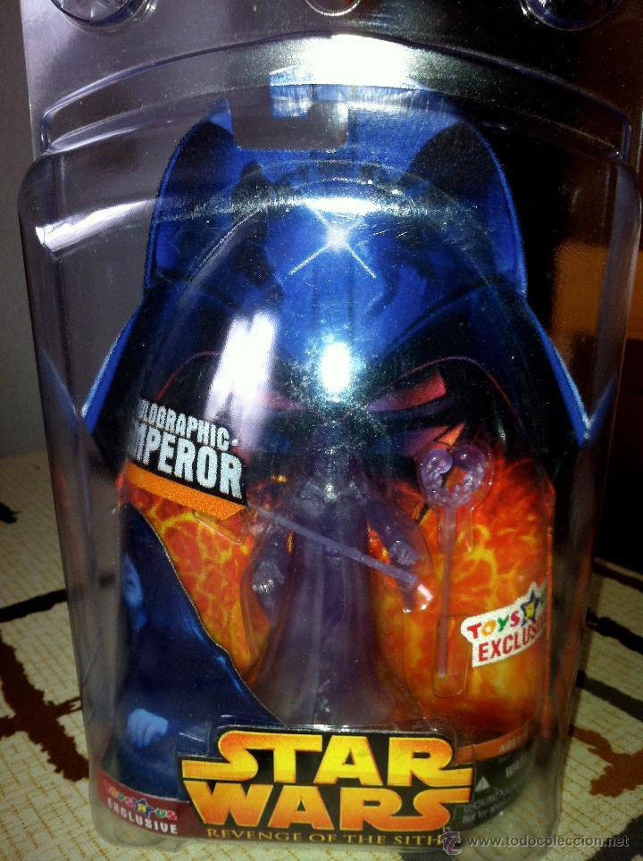 Figuras y Muñecos Star Wars: Exclusiva USA EPISODIO III. HOLOGRAPHIC EMPEROR Toys R us Exclusive. Con envase especial. - Foto 7 - 26979138
