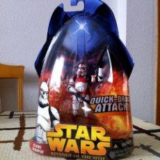 Figuras y Muñecos Star Wars: CLONE TROOPER (QUICK-DRAW ATTACK!). LA TROPA DEL EMPERADOR. EN BLISTER AMERICANO INTACTO.. Lote 42026545