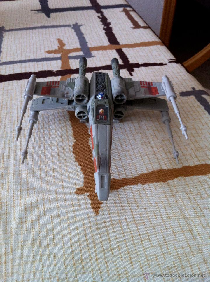Figuras y Muñecos Star Wars: Nave Action Fleet STAR WARS. X-WINGS. Perfecto. Con peana. - Foto 3 - 44018916