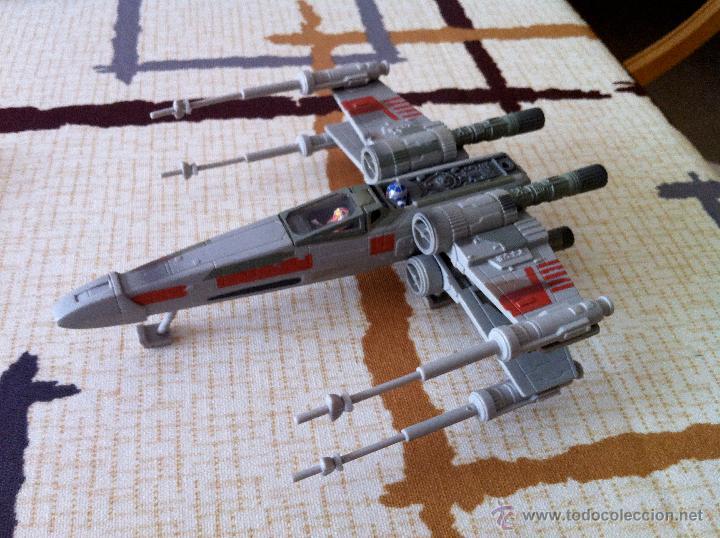 Figuras y Muñecos Star Wars: Nave Action Fleet STAR WARS. X-WINGS. Perfecto. Con peana. - Foto 4 - 44018916