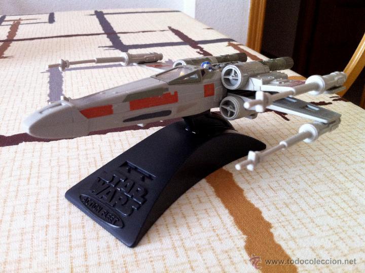 Figuras y Muñecos Star Wars: Nave Action Fleet STAR WARS. X-WINGS. Perfecto. Con peana. - Foto 5 - 44018916