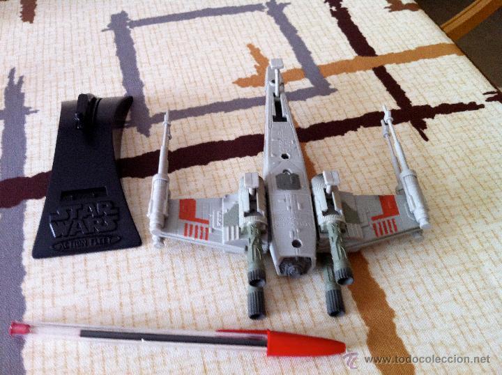Figuras y Muñecos Star Wars: Nave Action Fleet STAR WARS. X-WINGS. Perfecto. Con peana. - Foto 8 - 44018916