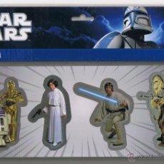 Figuras y Muñecos Star Wars: STAR WARS IMANES - SET A MAGNETS - ORIGINAL. Lote 47704601