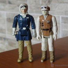 Figuras y Muñecos Star Wars: 2 FIGURAS STAR WARS - LUKE SKYWALKER - HAN SOLO - STAR WARS 1980 LFL HONG KONG. Lote 108777658