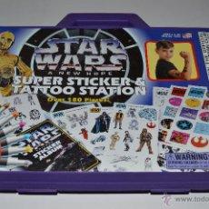Figuras y Muñecos Star Wars: STAR WARS A NEW HOPE SUPER STICKER & TATOO STATION. Lote 47840656
