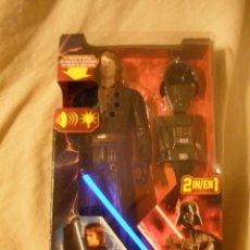 Figuras y Muñecos Star Wars: ESPECTACULAR MUÑECO STAR WARS.ANAKIN-DART VADER.2 EN 1.CON LUZ Y FRASES.DE HASBRO.. Lote 71870994