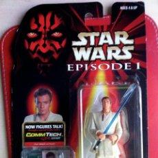 Figuras y Muñecos Star Wars: OBI-WAN KENOBI (JEDI DUEL). STAR WARS EPISODE I. CON COMMTECH. BLISTER USA INTACTO.. Lote 48485403