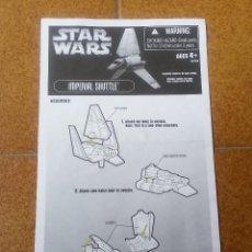 Figuras y Muñecos Star Wars: STAR WARS HASBRO IMPERIAL SHUTTLE TYDIRIUM INSTRUCCIONES ORIGINALES. Lote 48564582