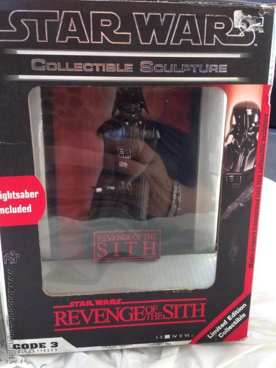STAR WARS REVENGE OF THE SITH COLLECTIBLE SCULPTURE (Juguetes - Figuras de Acción - Star Wars)