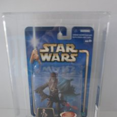 Figuras y Muñecos Star Wars: BLISTER STAR WARS HASBRO 2002, CHEWBACCA - AFA 80 - THE EMPIRE STRIKES BACK - ERICTOYS 043 -. Lote 51493353
