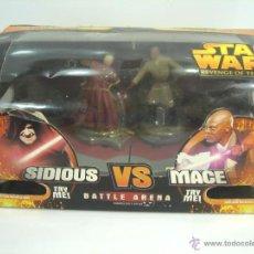Figuras y Muñecos Star Wars: JUEGO FIGURAS - BATTLE ARENA - STAR WARS - SIDIOUS VS MACE - LA VENGANZA DE LOS SITH. Lote 207132911