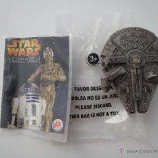 Figuras y Muñecos Star Wars: HALCON MILENARIO COLECCIONABLE BURGER KING STAR WARS EPISODIO 3 MILLENIUM FALCON. Lote 51882204