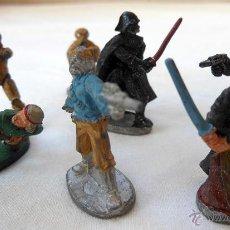 Figuras y Muñecos Star Wars: LOTE DE 7 FIGURAS DE PLOMO STAR WARS. 1987. LUCAS FILM. 3 CM ALTURA. Lote 51933221