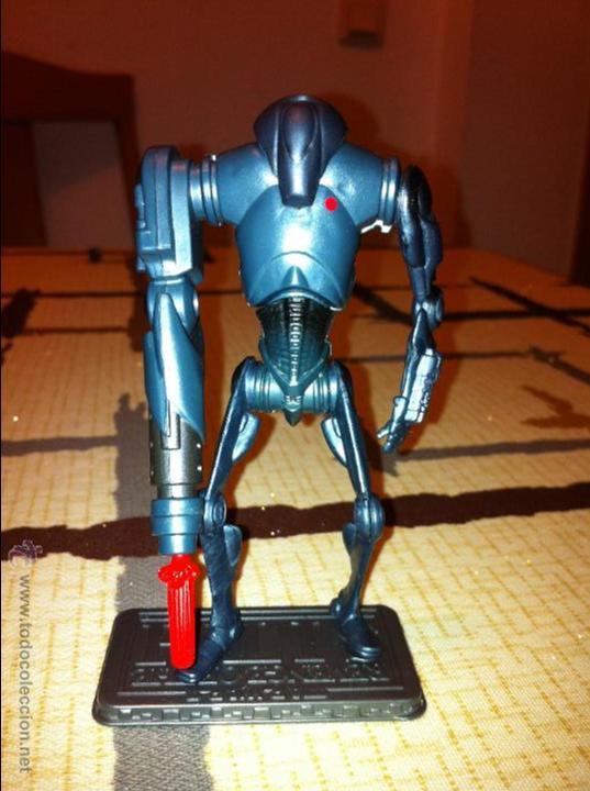 Figuras y Muñecos Star Wars: Super Droide de Combate de la Federación de Comercio. Con proyectil y pecho dañado añadido. - Foto 3 - 52347180
