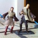 Figuras y Muñecos Star Wars: PAREJA DE JEDIS. OBI-WAN Y ANAKIN CONTRA EL CONDE DOKU. JUGADOS POR MI HIJO.. Lote 52361435