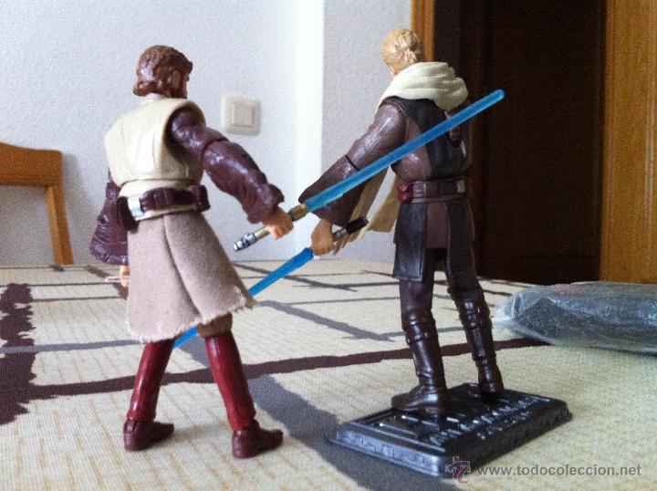 Figuras y Muñecos Star Wars: Pareja de Jedis. Obi-Wan y Anakin contra el Conde Doku. Jugados por mi hijo. - Foto 2 - 52361435