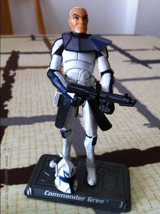 COMANDANTE CLON DE LA SERIE CLONE WARS. JUGADO POR MI HIJO. (Juguetes - Figuras de Acción - Star Wars)