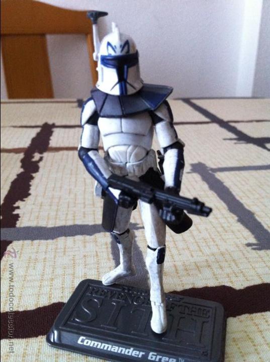 Figuras y Muñecos Star Wars: Comandante Clon de la serie Clone Wars. Jugado por mi hijo. - Foto 2 - 52378337