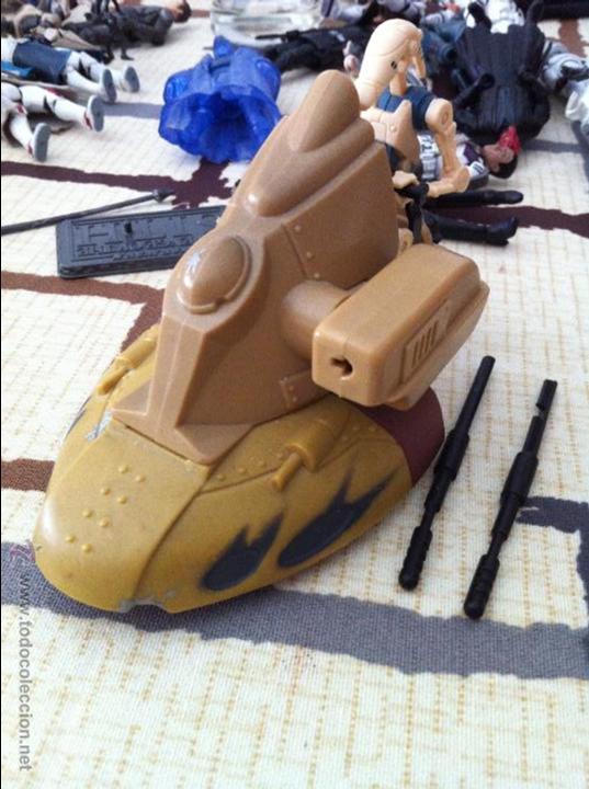 Figuras y Muñecos Star Wars: Droide de la Federación de Comercio con tanquete que dispara proyectil. Jugado por mi hijo. - Foto 2 - 52382514
