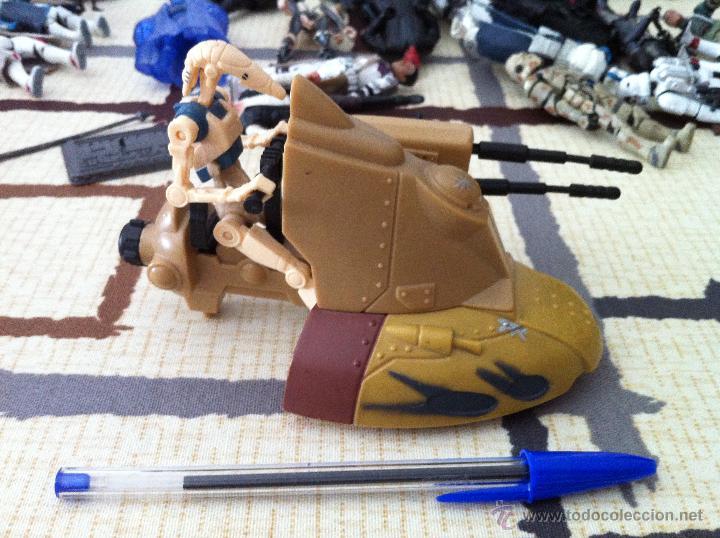 Figuras y Muñecos Star Wars: Droide de la Federación de Comercio con tanquete que dispara proyectil. Jugado por mi hijo. - Foto 3 - 52382514