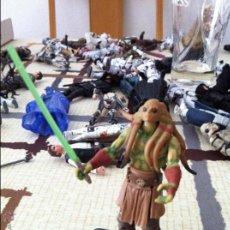 Figuras y Muñecos Star Wars: MAESTRO JEDI KIT FISTO, VERSIÓN SERIE CLONE WARS. JUGADO POR MI HIJO.. Lote 52382718