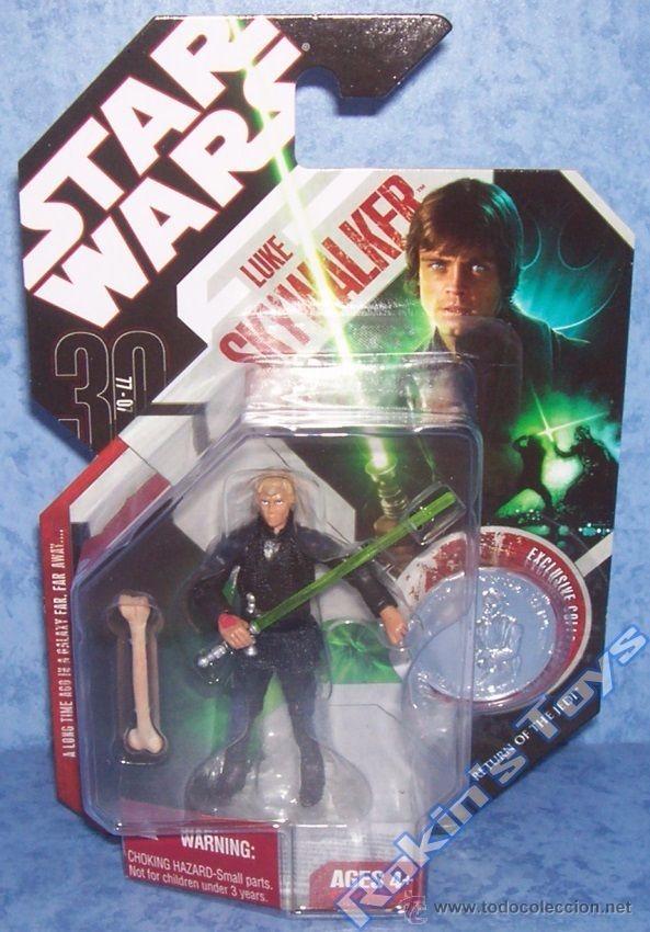 STAR WARS 30 ANIVERSARIO # 25 LUKE SKYWALKER (CON MONEDA) (Juguetes - Figuras de Acción - Star Wars)