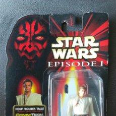 Figure e Bambolotti Star Wars: FIGURA STAR WARS EPISODE I COMMTECH CHIP - OBI-WAN KENOBI - HASBRO 1999 - BLISTER STARWARS. Lote 52769475