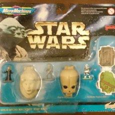 Figuras y Muñecos Star Wars: STAR WARS MICROMACHINES HEADS, BIB FORTUNA, FIGRIN, SPEEDER BIKE PILOT. Lote 52896624